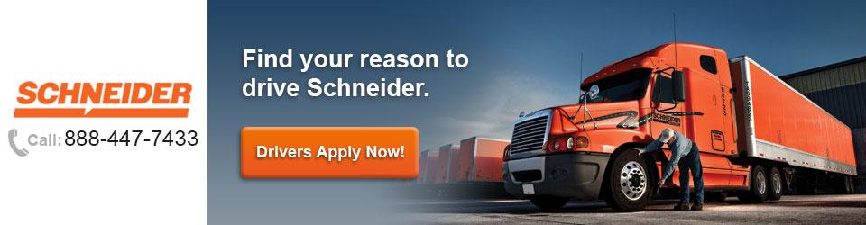 Schneider   Hiring Drivers Now